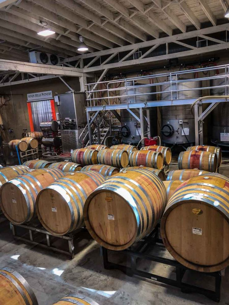 Seven Hills Wine barrels